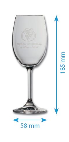Skleničky z řady LARA - bílé víno - 250ml