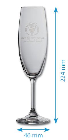 Skleničky z řady LARA - flétna - 220ml