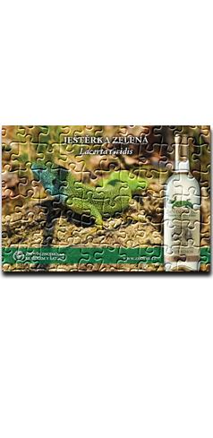 """Puzzle """"ještěrka zelená"""""""