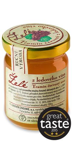 Želé z ledového vína Tramín červený 2011