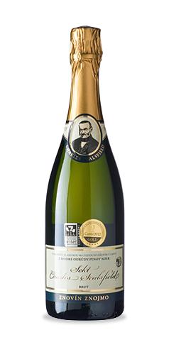 Charles Sealsfield sekt Brut - jakostní šumivé víno - 2013