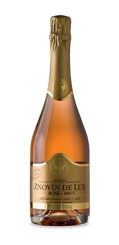 Znovín de Lux Rosé Brut - jakostní šumivé víno - 2013