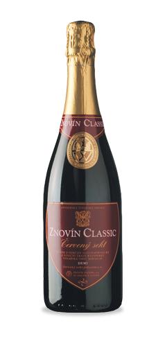 Znovín Classic Sekt Demi sec - červený - jakostní šumivé víno - 2009