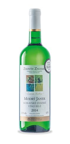 Modrý Janek - moravské zemské víno - 2014