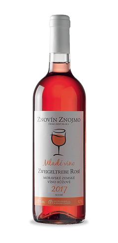MLADÉ VÍNO - Zweigeltrebe rosé - moravské zemské víno - 2017