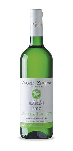 SVATOMARTINSKÉ - Müller Thurgau - moravské zemské víno - 2017