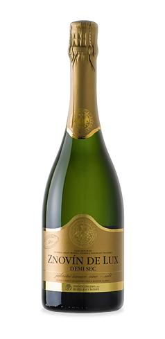Znovín de Lux Demi sec - jakostní šumivé víno - 2015