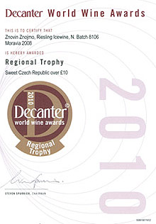 Decanter world wide awards 2010